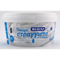 ΓΙΑΟΥΡΤΙ ΣΤΡΑΓΓΙΣΤΟ ΜΕΒΓΑΛ 10% 5 κιλά